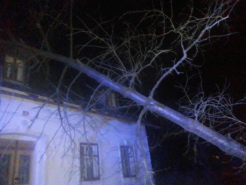 Pád stromu na dům v Raspenavě<br />Autor: HZS Libereckého kraje