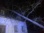 Pád stromu na dům v Raspenavě