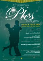 Plakát Ples města Semily 2020