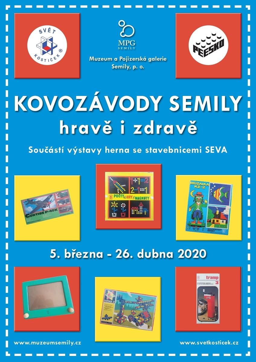 Plakát výstavy Kovozávody Semily - hravě i zdravě<br />Autor: Archiv Muzeum a Pojizerská galerie Semily