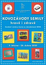 Plakát výstavy Kovozávody Semily - hravě i zdravě