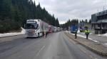 Kamiony kontrolované na hraničním přechodu v Harrachově