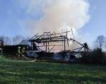 Plameny zachvátily stodolu v Dolní Sytové