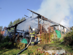 Zásah hasičů u požáru v Dolní Sytové