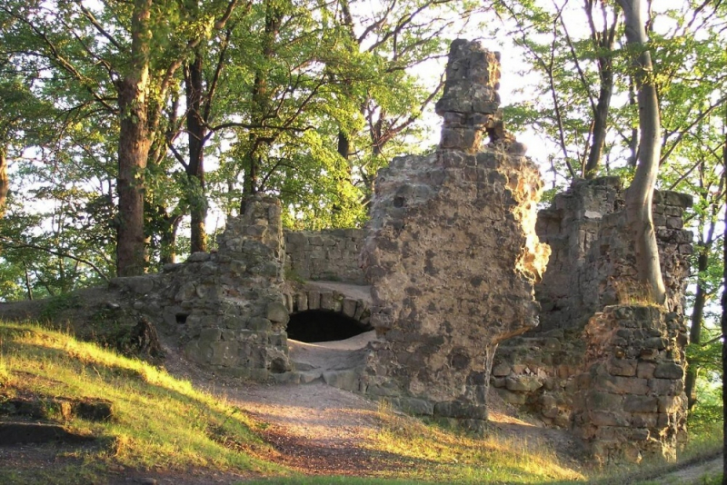 Trosky hradu Děvín v Ralské pahorkatině<br />Autor: Archiv KÚ Libereckého kraje