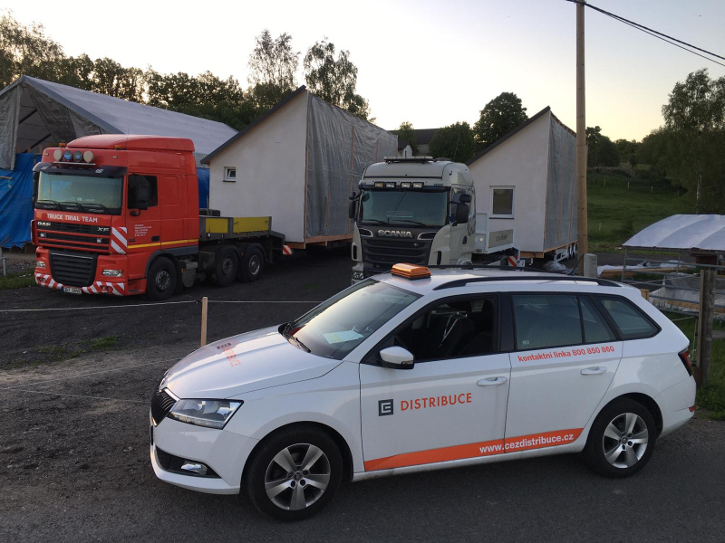 Start kamionů s nadměrným nákladem<br />Autor: Archiv ČEZ