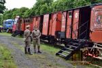 Legiovlak na železniční stanici Martinice v Krkonoších
