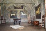 Nově instalovaný biliární sál s obrazy koní Albrechta z Valdštejna