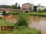 Obrazem: Zvýšená Jizera i Oleška v Semilech 19. června 2020
