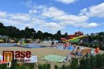 Koupaliště v Maškově zahradě v Turnově v červenci 2020