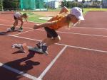 Páteční den příměstského tábora atletů