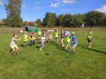 Pondělní den příměstského tábora atletů