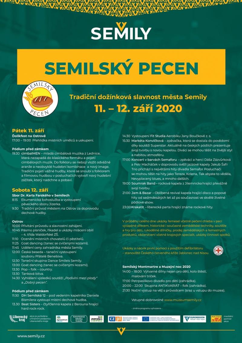 Semilský pecen - plakát 2020