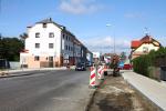 Rekonstrukce Nádražní ulice v Turnově na začátku září 2020