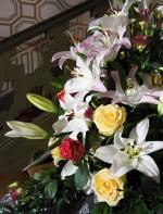 Květinová arnžmá na zámku Hrádek u Nechanic
