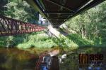 Nová Bítouchovská lávka přes řeku Jizeru