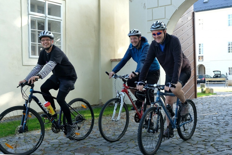 Starosta Turnova Tomáš Hocke na cyklojízdě s hejtmanem Martinem Půtou<br />Autor: Archiv Starostové pro Liberecký kraj