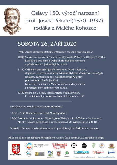 Otevření naučné stezky a připomenutí 150. výročí narození historika Josef Pekaře<br />Autor: Archiv města Turnov