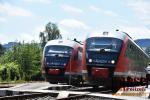 Vlaky Arrivy Siemens Desiro se křižují na semilském nádraží