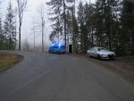 Nehoda vozidla VW Touareg mezi Zlatou Olešnicí a Sklenařicemi