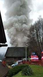Požár domu ve Víchové nad Jizerou