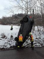 Semilští hasiči zasahovali u nehody ve Slané