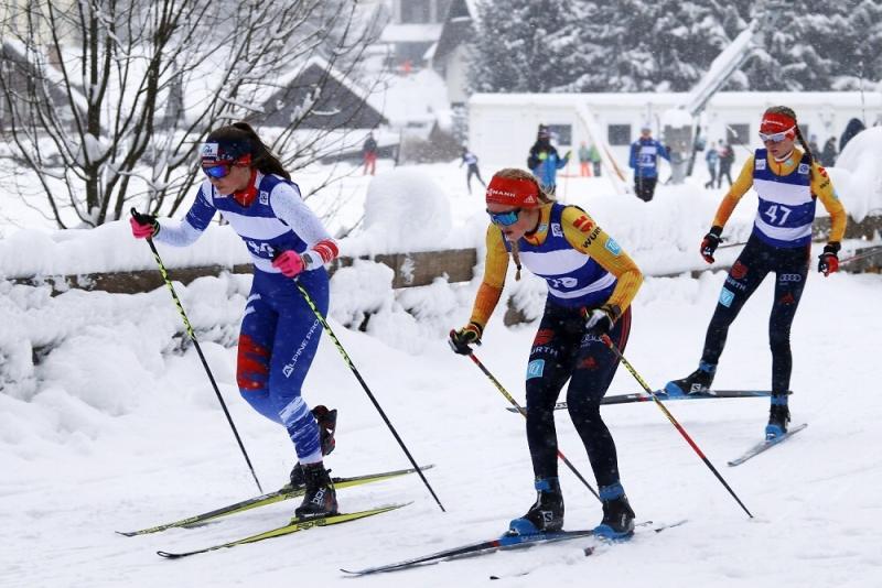 Tereza Koldovská (2) na trati s dvojicí německých konkurentek<br />Autor: Vladimír Zemánek