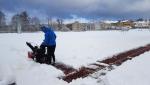Sníh, radost i starost na turnovských sportovištích