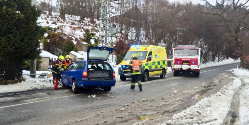 Dopravní nehoda v obci Bohumileč