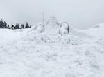 Sněhový Krakonoš u Labské boudy