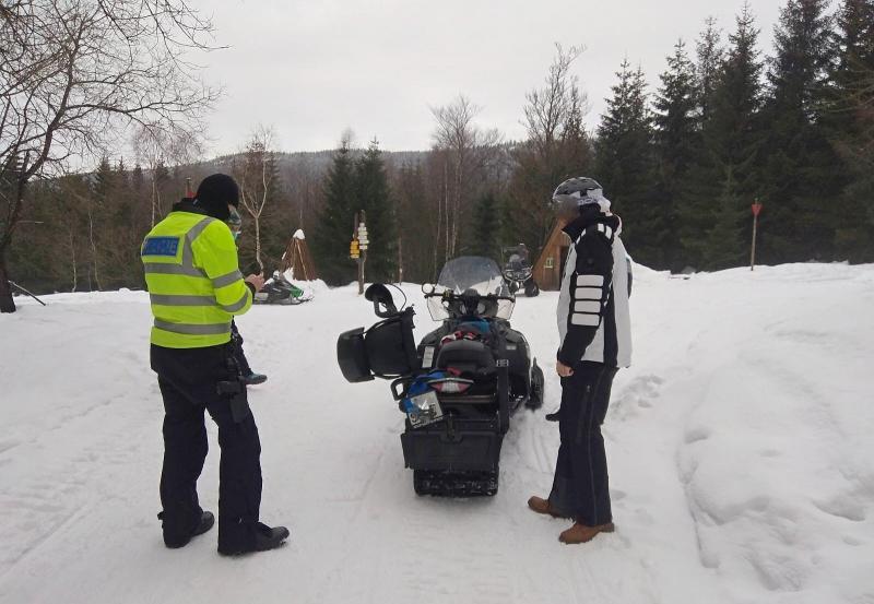Kontroly policistů v horských oblastech
