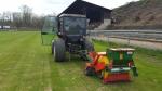 Úprava fotbalového hřiště na Městském stadionu v Turnově