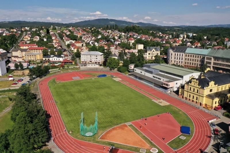 Stadion Ludvíka Daňka v Turnově<br />Autor: Archiv města Turnov/ dronyvakci.cz