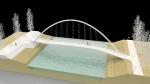 Vybraný návrh lávky s ocelovým obloukem