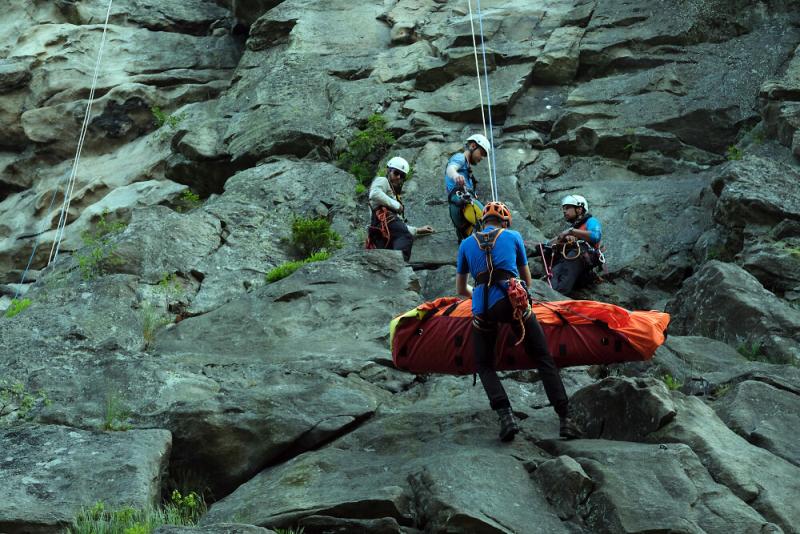 Cvičení nových členů horské služby<br />Autor: Archiv Horská služba
