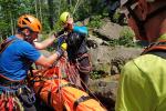 Cvičení nových členů horské služby