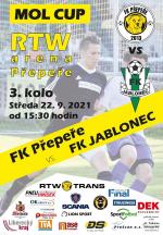 Pozvánka na utkání Mol cupu FK Přepeře - FK Jablonec