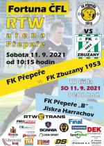 Pozvánka na utkání ČFL FK Přepeře - FK Zbuzany