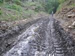 Zdevastovaná nivní louka i dno údolí Plakánek