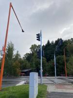 Nově nasvícený přechod v Krkonošské ulici v Jilemnici