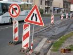 FOTO: Turnov má další rozkopanou ulici